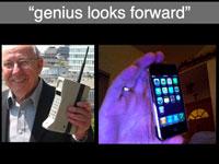 genius looks forward